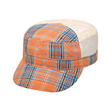 Fashion Plaid Army Cap
