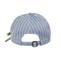 Back - 6592-Ladies' White Stripe 6 Panel Cotton Twill Cap