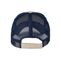 Back - 6887-Low Profile (Unstructured) Washed Organic Cotton Mesh Cap