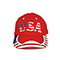 Front - 6917Y-Youth Low Profile (Str)  USA Flag Heavy Brushed Twil Cap