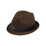 Ladies Wool Felt Fedora Hat