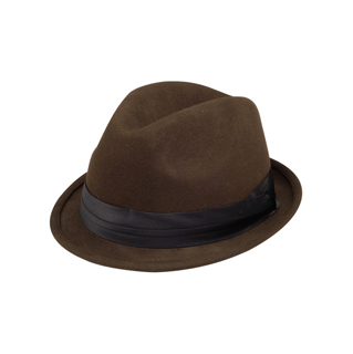 2520-Ladies Wool Felt Fedora Hat