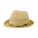 Ladies' Toyo Braid Fedora Hat