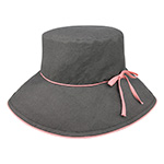 Ladies' Linen Wide Brim Hat