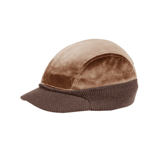 3511-4 Panel Velour Fashion Cap