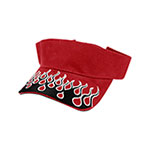 Flame Embroidery Visor
