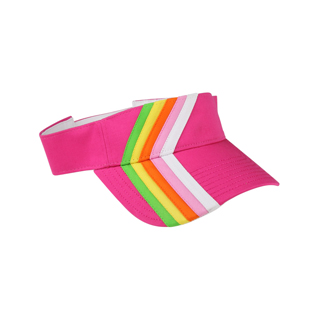 4061-Rainbow Stripe Cotton Twill Visor