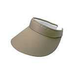 Large Peak Twill Clip-On Visor