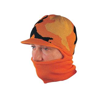5008-Camouflage Knitted Beanie W/Neck Gaiter