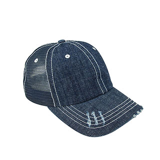 6990B-Denim Mesh Cap