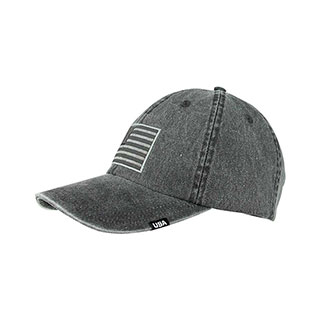 7601F-USA Washed Pigment Dyed Twill Cap