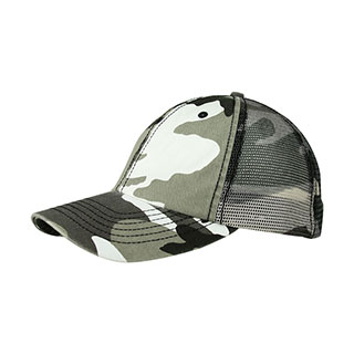 9031M-Enzyme Washed Camouflage Mesh Cap