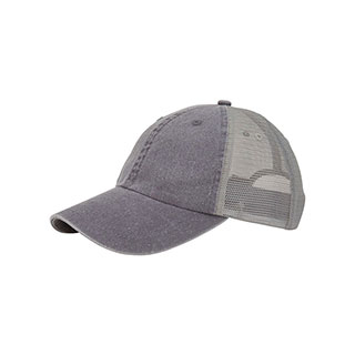 7601M-Washed Pigment Dyed Twill Trucker Cap
