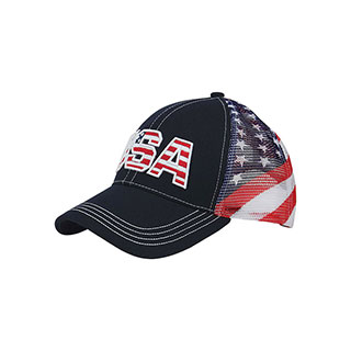 7641F-USA Cotton Twill Mesh Cap