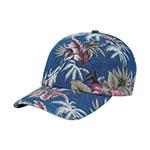 Denim Floral Print Cap