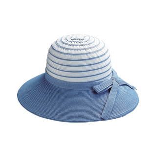 6524A-Ladies' Sewn Braid Toyo & Webbing Hat