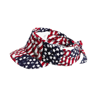 6530A-USA Flag Printed Visor/Kerchief
