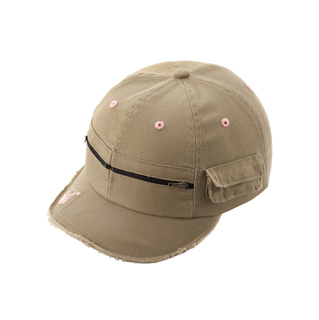 6545-Army Style Fashion Cap W/Frayed Bill
