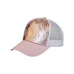 5 Panel Ladies' Metallic Cap W/Sequins