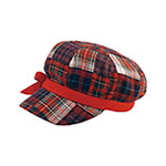 Ladies' Plaid Newsboy Cap