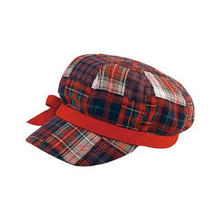 6570-Ladies' Plaid Newsboy Cap