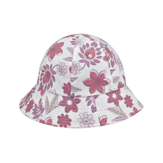6577Y-Girl's Floral Bucket Hat