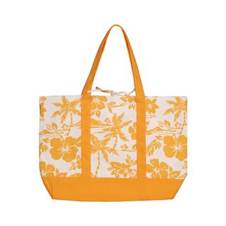 1508B-Canvas Flower Print Tote Bag