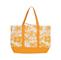 Main - 1508B-Canvas Flower Print Tote Bag