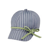 Ladies' White Stripe 6 Panel Cotton Twill Cap