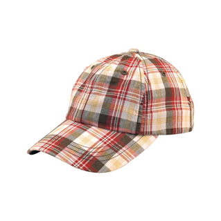 6866-Low Profile (Uns) Washed Plaid Cap