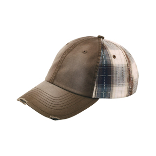 6882-Low Profile (Uns) Washed Cotton Twill Plaid Cap