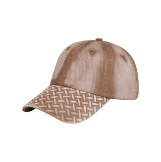 6889B-Diamond Plate Washed Cap