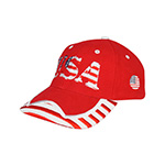 Low Profile (Str)  USA Flag Heavy Brushed Twil Cap