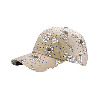 7645-Low Profile (Uns) Flower Print Cap
