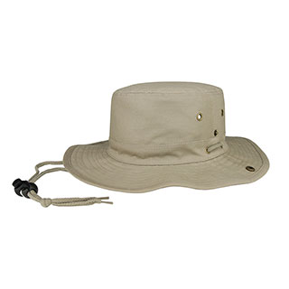 7805A-Brushed Twill Aussie Hat