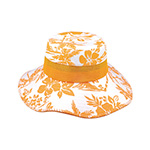 Cotton Canvas Flower Print Bucket Hat