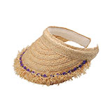 Raffia Straw Clip-On Visor