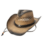 Outback Tea Stained Toyo Straw Coyboy Hat