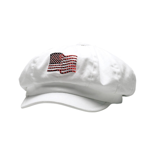 2120-USA Flag Newboy Cap