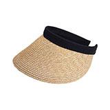 Sewn Braid Wheat Straw Clip-On Visor