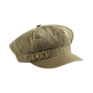 2126-Pigment Dyed Special Cotton Washed Newsboy Cap