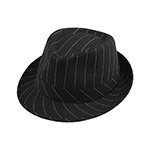 Pinstripe Polyester Fedora Hat