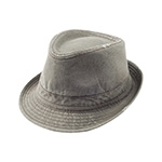 Washed Fedora Hat W/Distressed Look