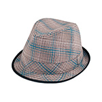 Plaid Fedora Hat