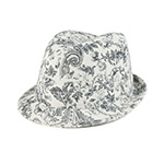 Ladies' Corduroy Printed  Fedora Hat
