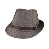 Herringbone Fedora Hat