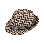 Argyle Pattern Fedora Hat