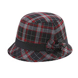 Infinity Selections Wool Plaid Cloche Hat