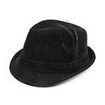 Infinity Selections Polyester Denim Fedora Hat