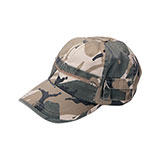 Casual Style Camouflage Twill Washed Pocket Cap
